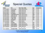 special quotas1