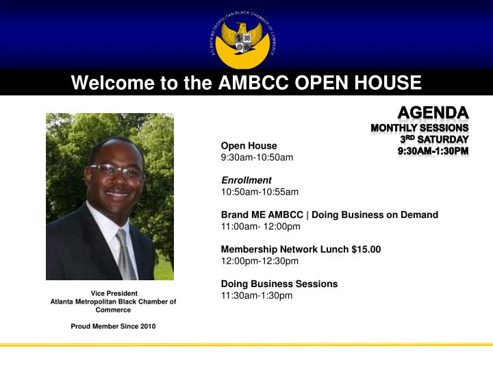 welcome to the ambcc open house n.
