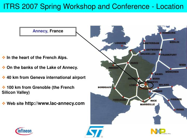 Itrs 2007 spring workshop and conference location