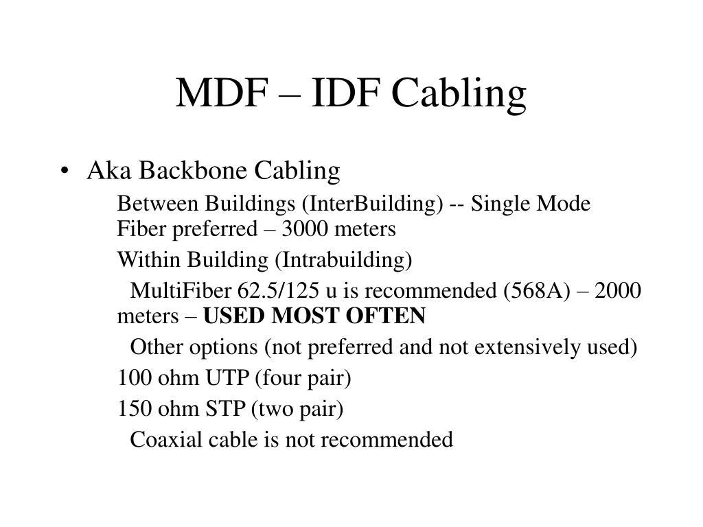 PPT - Chapter 4 – Cisco Semester I PowerPoint Presentation ... Mdf Idf Wiring Diagram on