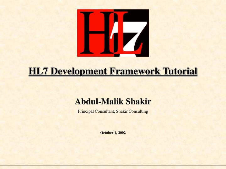 hl7 development framework tutorial n.