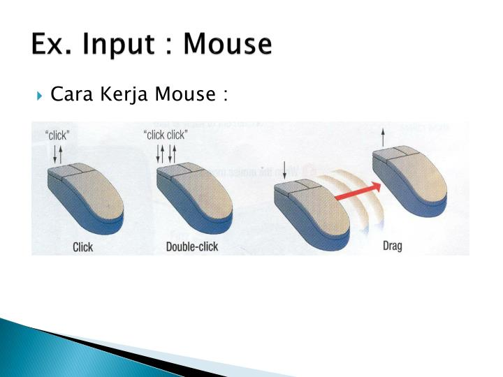 Ex. Input : Mouse