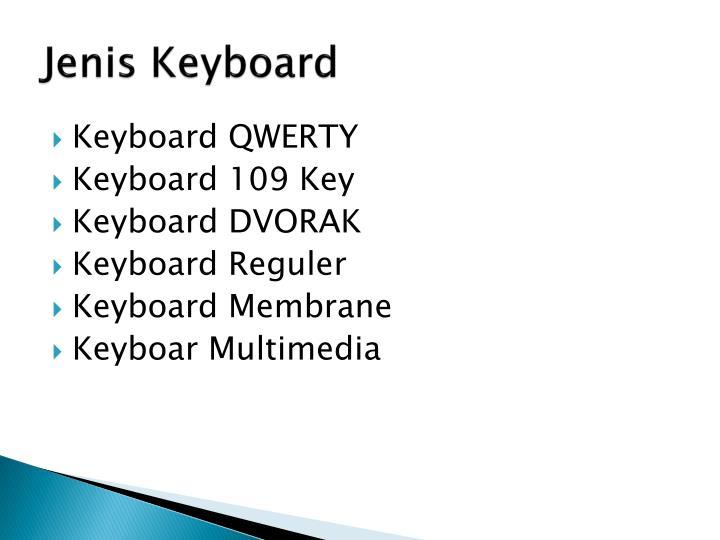 Jenis Keyboard
