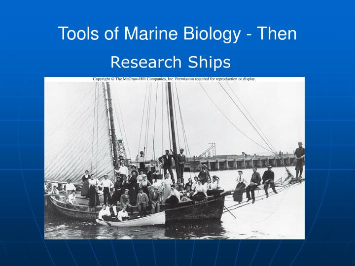 Tools of Marine Biology - Then