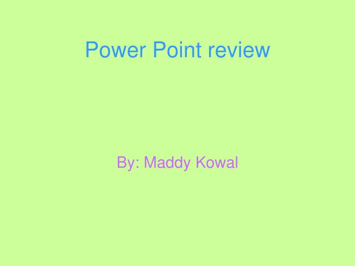 power point review n.
