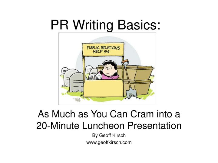 pr writing basics n.