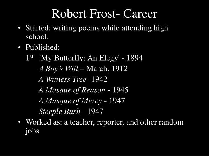 robert frost career
