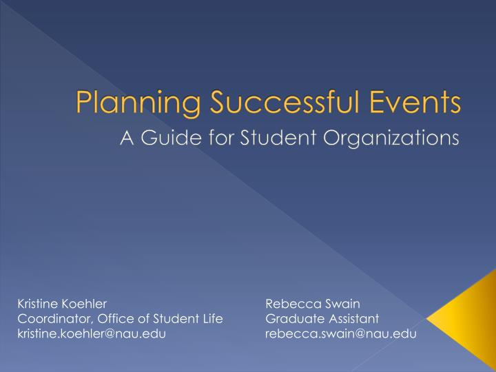 planning successful events n.