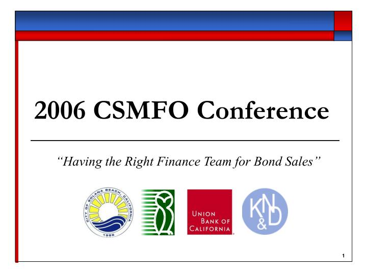2006 csmfo conference n.