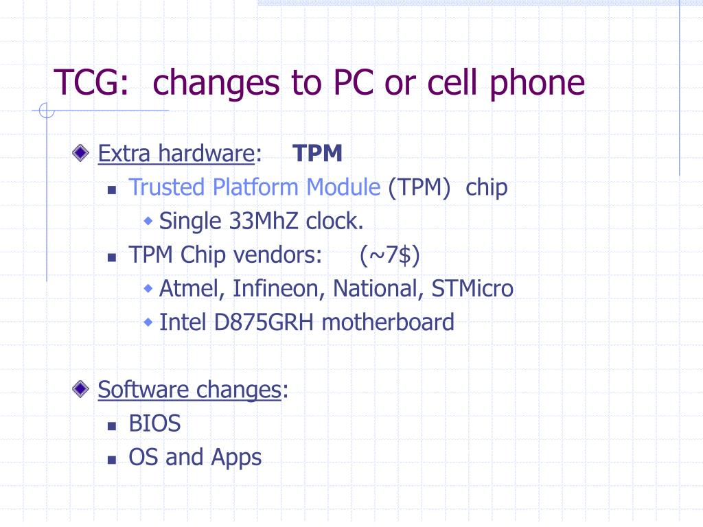 PPT - TCG: Trusted Computing Group PowerPoint Presentation - ID:5452926