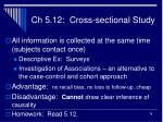 ch 5 12 cross sectional study