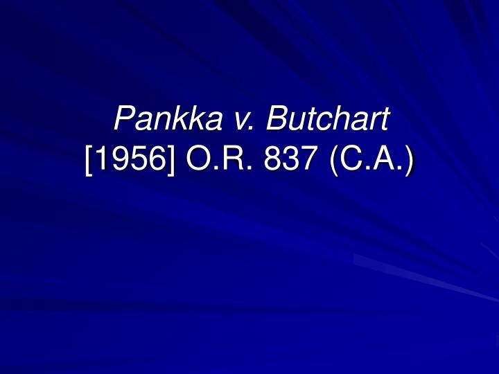 Pankka v. Butchart