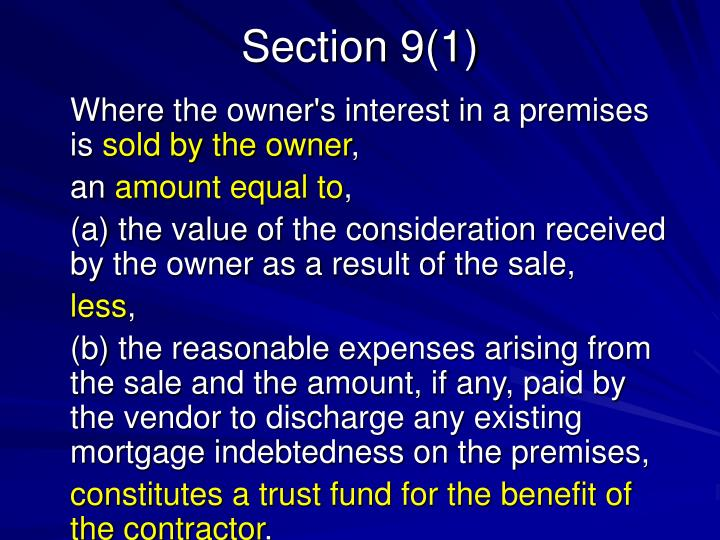 Section 9(1)