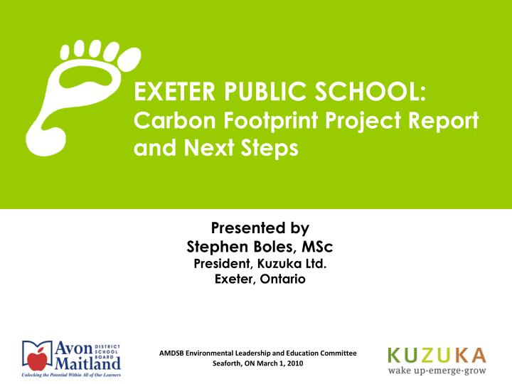exeter public school carbon footprint project report and next steps n.