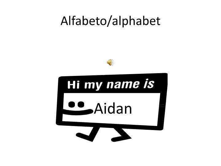 Alfabeto alphabet
