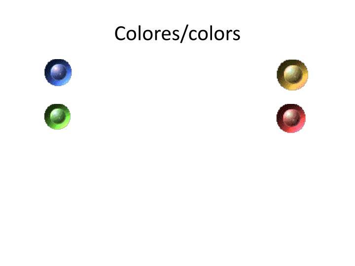 Colores colors