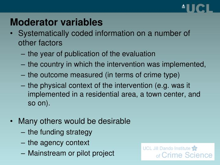Moderator variables
