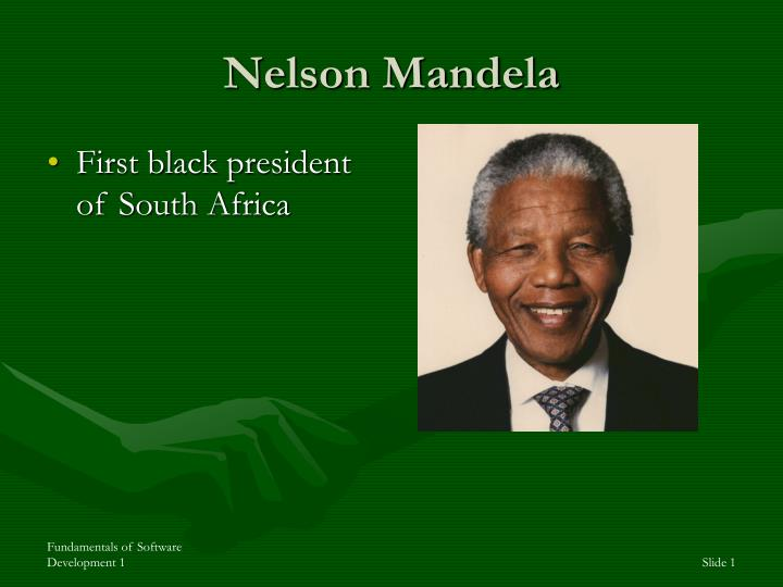 a history of the presidency of nelson mandela