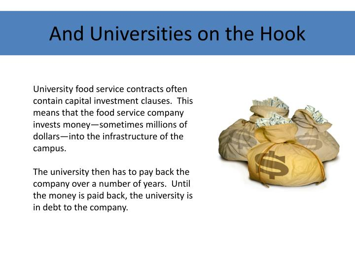 And Universities on the Hook