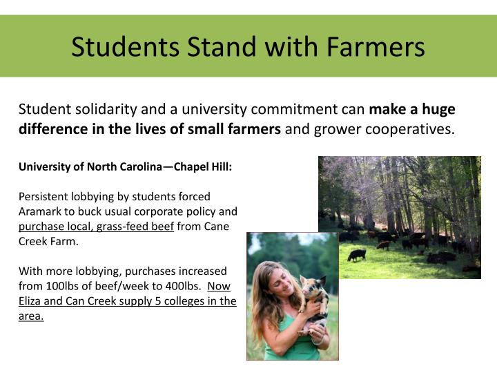 Students Stand with Farmers