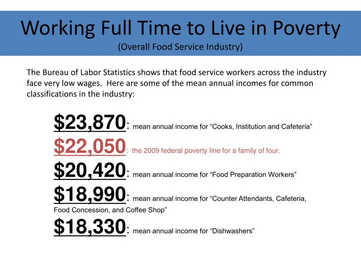 Working Full Time to Live in Poverty