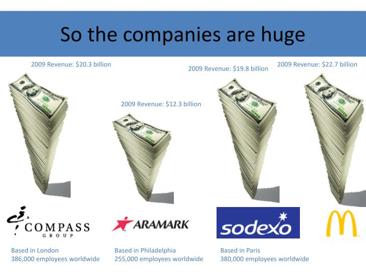 So the companies are huge