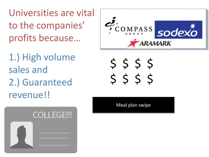 Universities are vital to the companies' profits because…