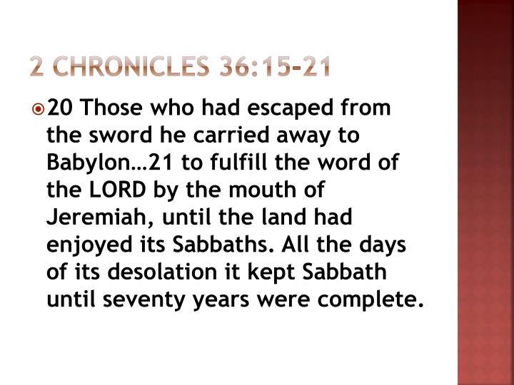 2 Chronicles 36:15-21