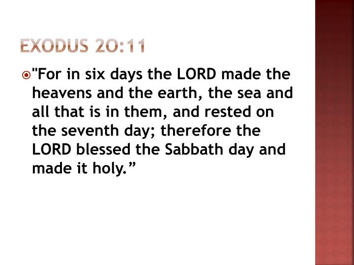 Exodus 2o:11