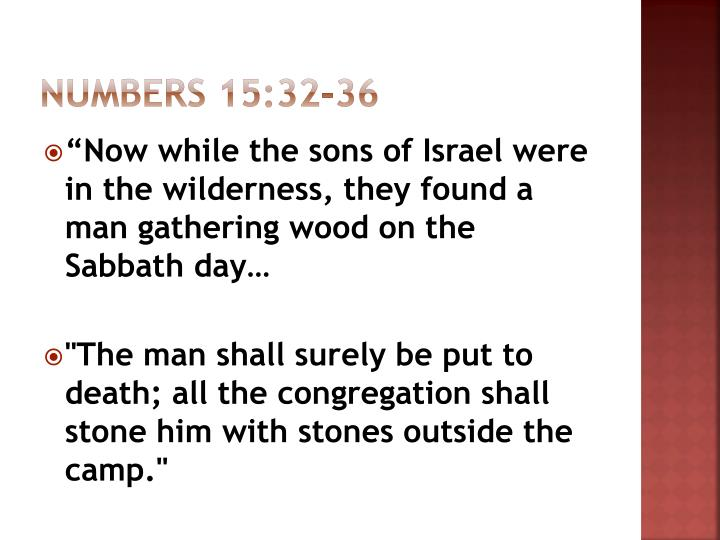 Numbers 15:32-36
