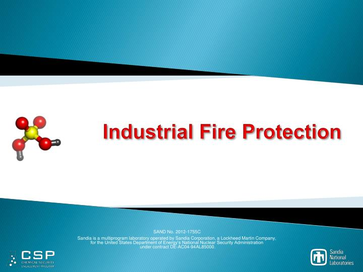 industrial fire protection n.