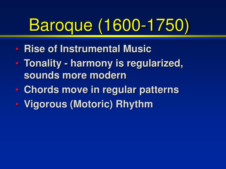 baroque music 1600 1750