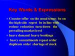 key words expressions