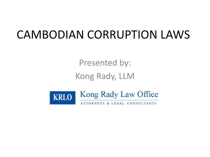 cambodian corruption laws n.