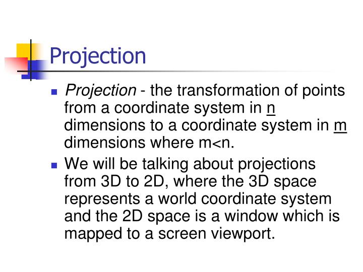 projection n.