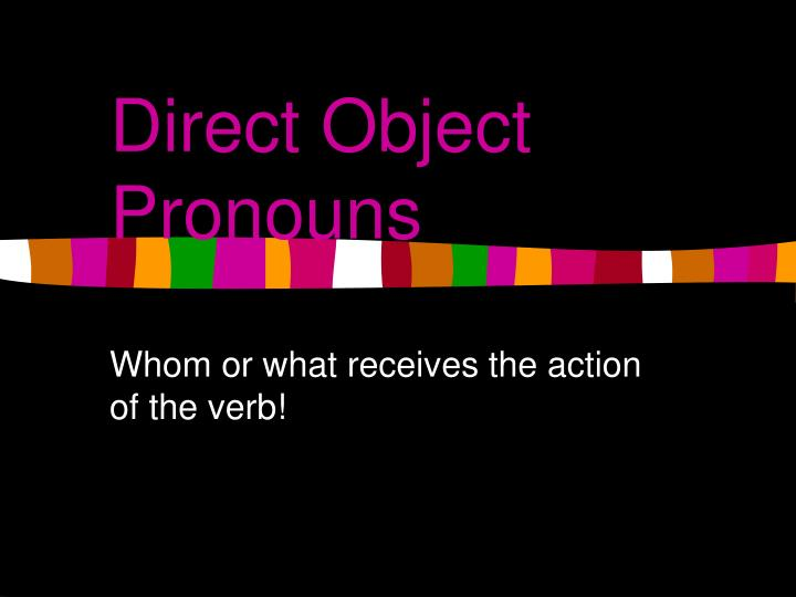 direct object pronouns n.