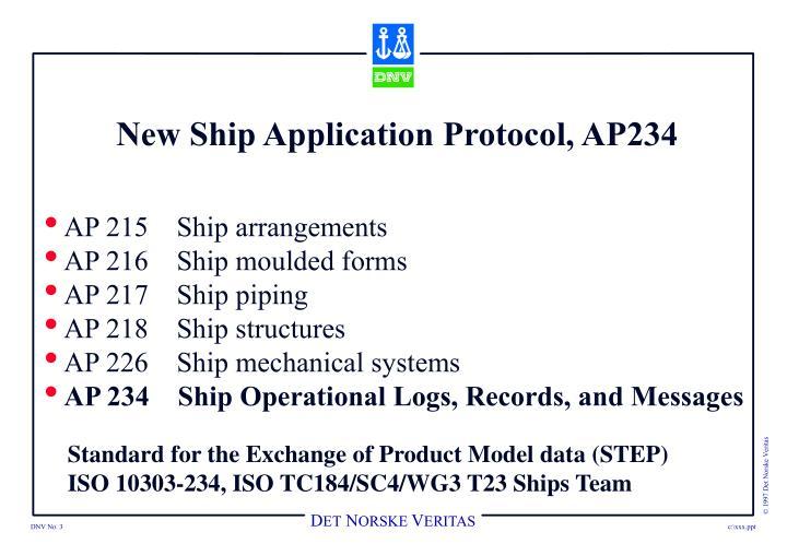New ship application protocol ap234