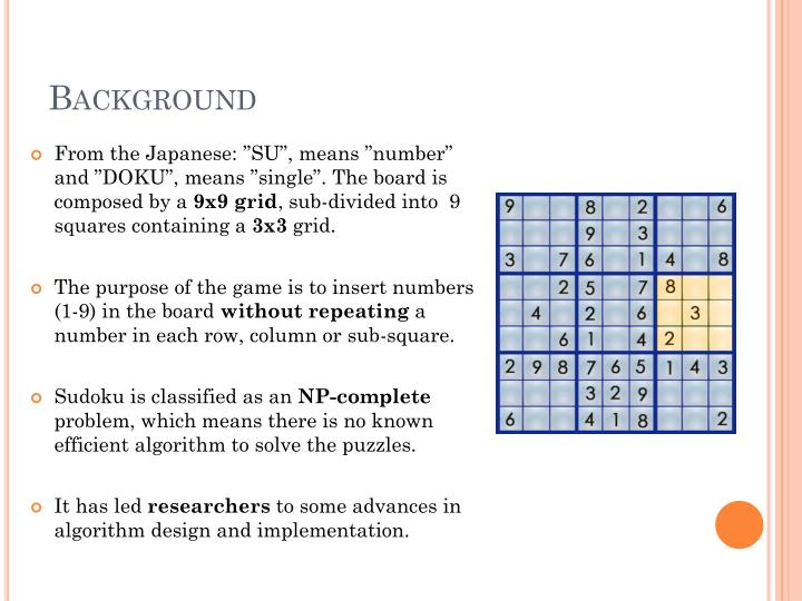 PPT - SOLVING SUDOKU WITH MATLAB PowerPoint Presentation