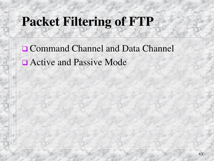 Packet Filtering of FTP