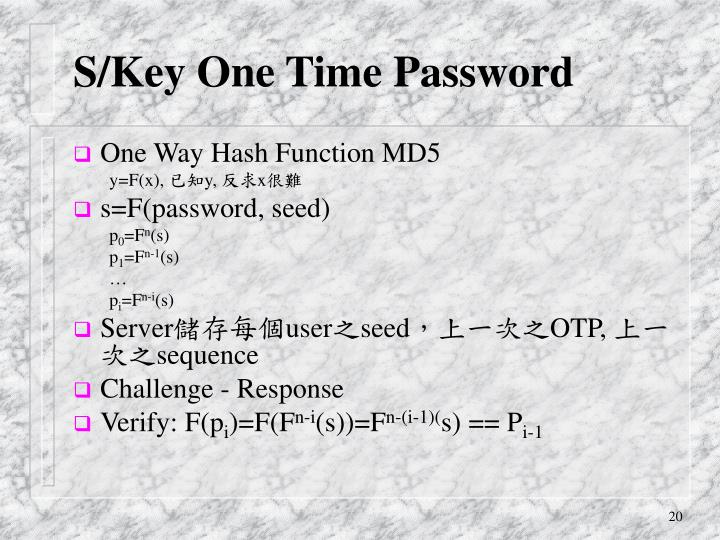 S/Key One Time Password
