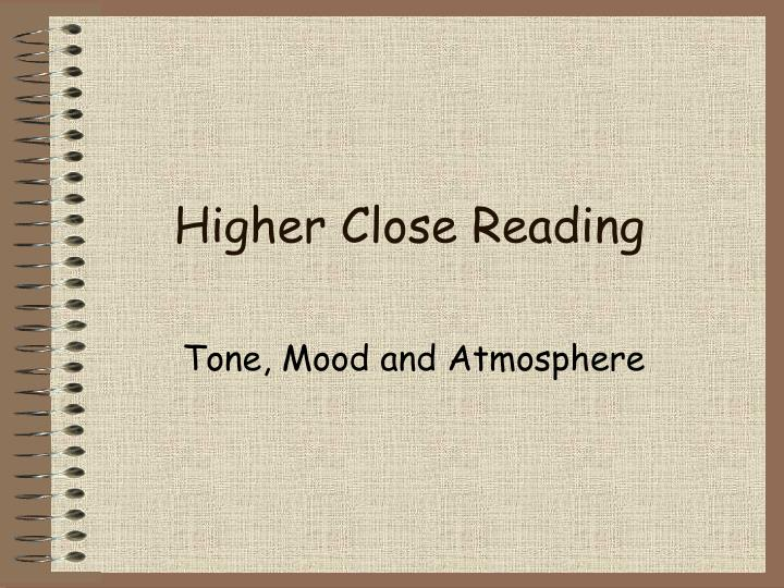 higher close reading n.