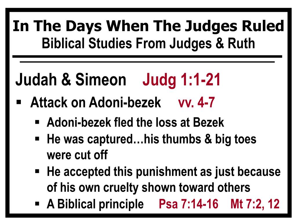 PPT - When The Judges Ruled Israel PowerPoint Presentation