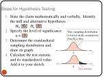 steps for hypothesis testing