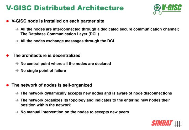 V-GISC Distributed Architecture