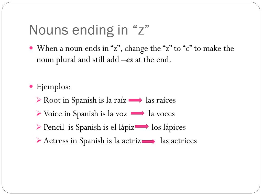 PPT - How to make nouns and adjectives plural & how to