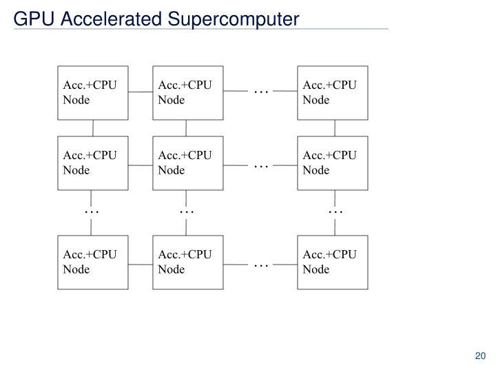 GPU Accelerated Supercomputer