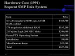 hardware cost 1991 sequent smp unix system