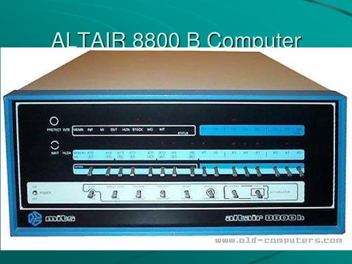 ALTAIR 8800 B Computer