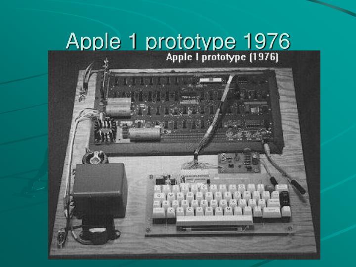 Apple 1 prototype 1976