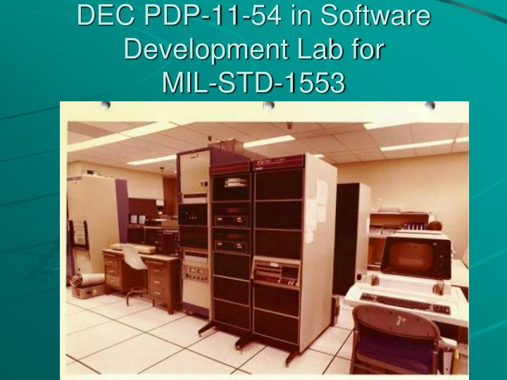 DEC PDP-11-54 in Software Development Lab for